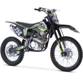 MotoTec X5 250cc 4-Stroke Gas Dirt Bike Black